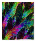 Rainbow Leaves Fleece Blanket