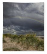 Rainbow Lighthouse Fleece Blanket