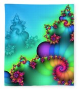 Rainbow Mountain Fleece Blanket