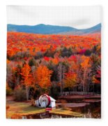 Rainbow Of Autumn Colors Fleece Blanket