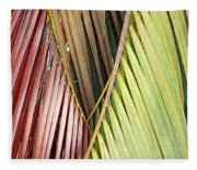 Rainbow Of Palms Gp Fleece Blanket
