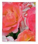 Rainbow Of Roses Fleece Blanket