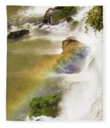 Rainbow On The Falls Fleece Blanket