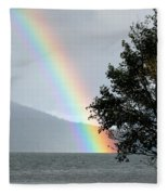 Rainbow Over Odell Fleece Blanket
