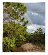 Rainbow Path Fleece Blanket