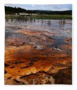 Rainbow Pool - Yellowstone Np Fleece Blanket