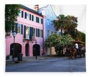 Rainbow Row Charleston Fleece Blanket