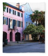 Rainbow Row Charleston Fleece Blanket