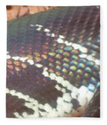 Rainbow Scales Fleece Blanket
