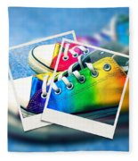 Rainbow Sneakers One Fleece Blanket