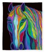 Rainbow Stallion Fleece Blanket