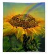 Rainbow Sunflower Fleece Blanket