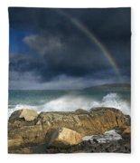 Rainbow To Heaven Shamrock Shores  Fleece Blanket