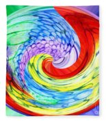 Rainbow Twirl Fleece Blanket