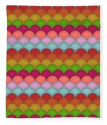 Rainbow Unicorn Scales Fleece Blanket