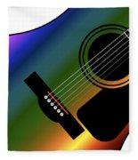 Rainbow Western Guitar Fleece Blanket
