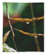 Raindrops On Leaf 3 Fleece Blanket
