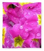 Raindrops On Pink Flowers 2 Fleece Blanket