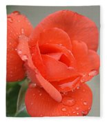 Raindrops On Roses Fleece Blanket