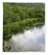 Raindrops On The Little Spokane Fleece Blanket
