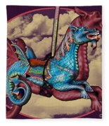 Rainey The Dragon-horse Fleece Blanket