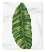 Rainforest Resort - Tropical Banana Leaf  Fleece Blanket