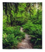 Rainforest Trail Fleece Blanket