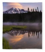 Rainier Lenticular Sunrise Fleece Blanket