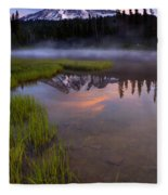 Rainier Sunrise Cap Fleece Blanket