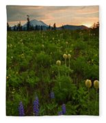 Rainier Wildflower Light Fleece Blanket