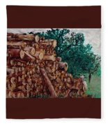 Raining Day - Woods Fleece Blanket