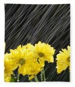 Raining On Yellow Daisies Fleece Blanket