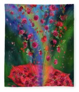 Raining Roses 2 Fleece Blanket