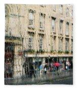 Rainy Bath Fleece Blanket