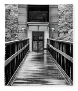 Rainy Day At Crystal Bridges Fleece Blanket