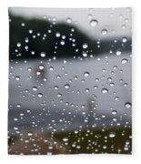 Rainy Day At The Lake Fleece Blanket