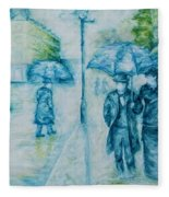Rainy Day Impression Fleece Blanket