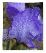 Rainy Day Iris Fleece Blanket