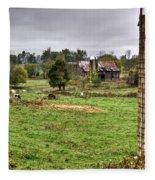 Rainy Day On The Farm Fleece Blanket