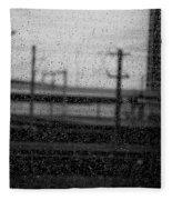 Rainy Day Train Fleece Blanket