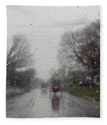 Rainy Fall Day Fleece Blanket