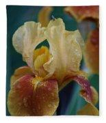 Rainy Iris Fleece Blanket