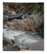 Rainy Rocky Rapids Fleece Blanket