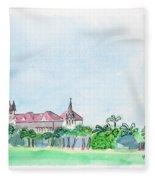 Rajabai Clock Tower And Bombay High Court Fleece Blanket