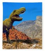 Rajasaurus In The Desert Fleece Blanket