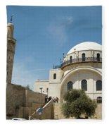 Ramban Synagogue  Fleece Blanket