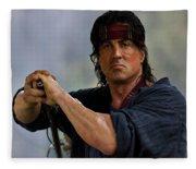 Rambo Sylvester Stallone Fleece Blanket