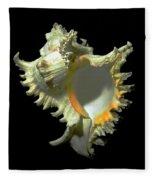 Rams Horn Seashell Murex Ramosus Fleece Blanket