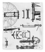 Ramsdens Dividing Engine, 18th Century Fleece Blanket