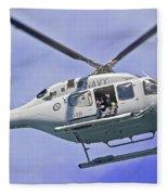 Ran N49 Bell 429 Global Ranger N49-048 Fleece Blanket